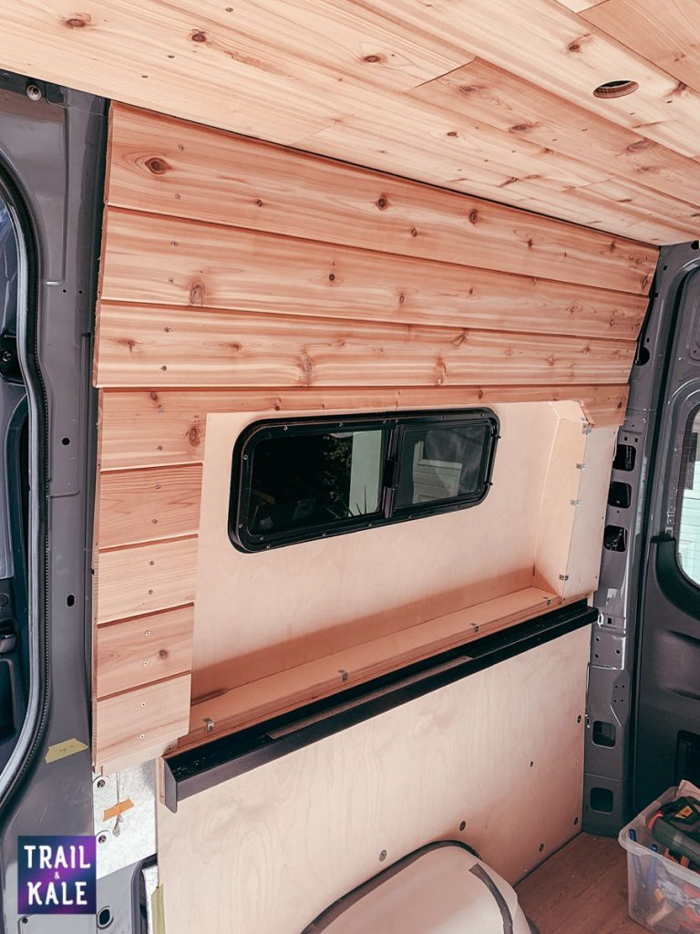 Installing wood panelling in our DIY Sprinter van conversion trail and kale web wm 12