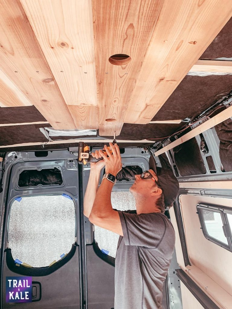 Installing wood paneling in our DIY Sprinter van conversion trail and kale web wm 6