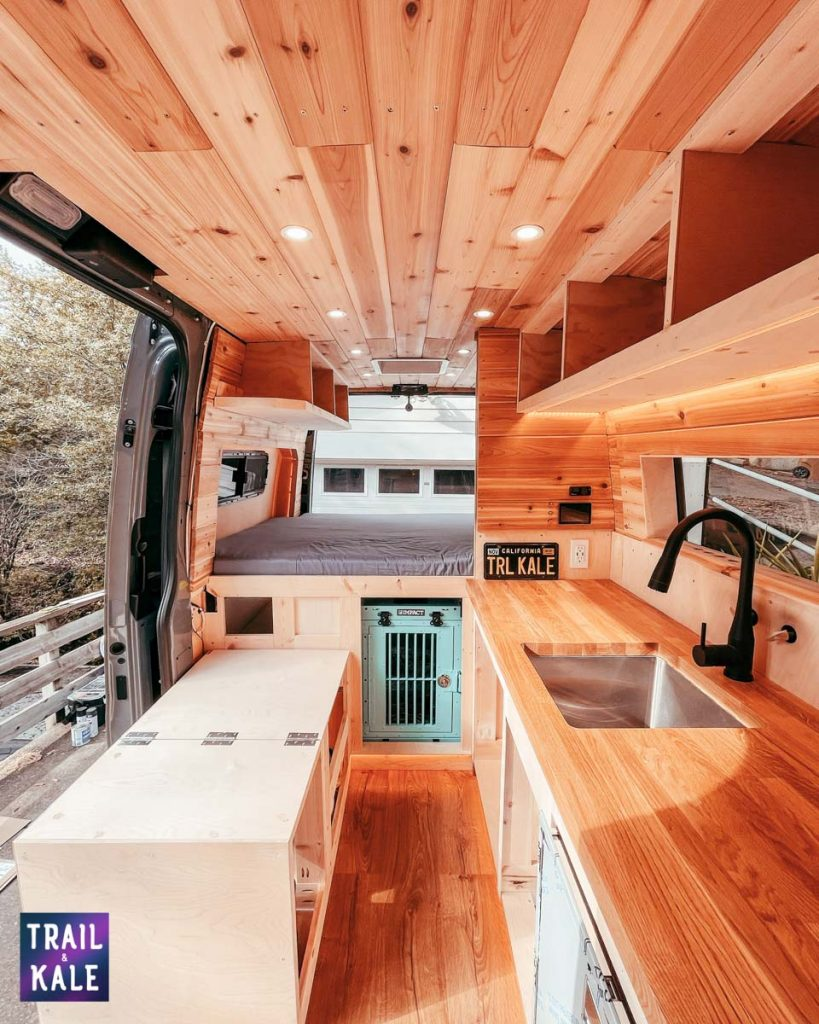 DIY Sprinter van build dog crate in our campervan trail and kale web wm 3