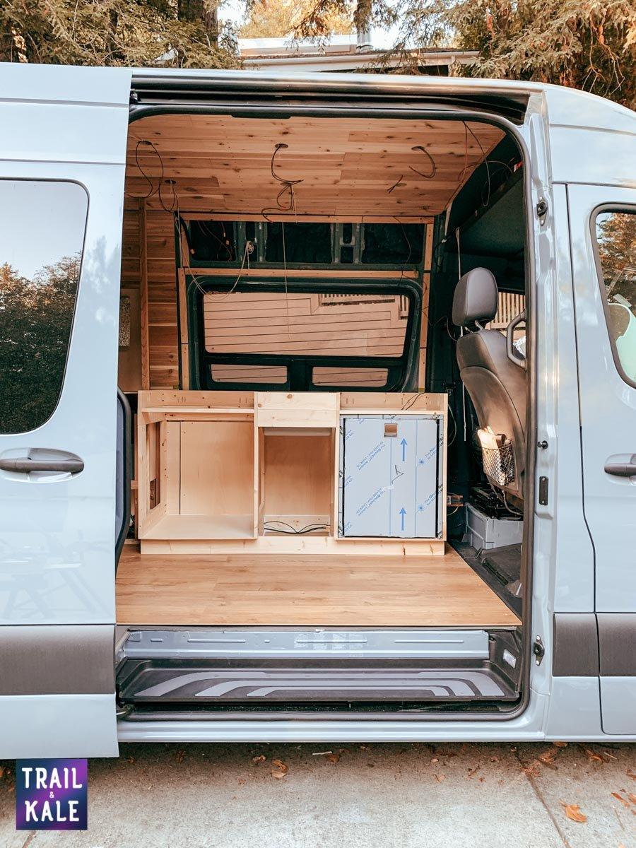 DIY Sprinter van build van conversion cabinets trail and kale web wm 2