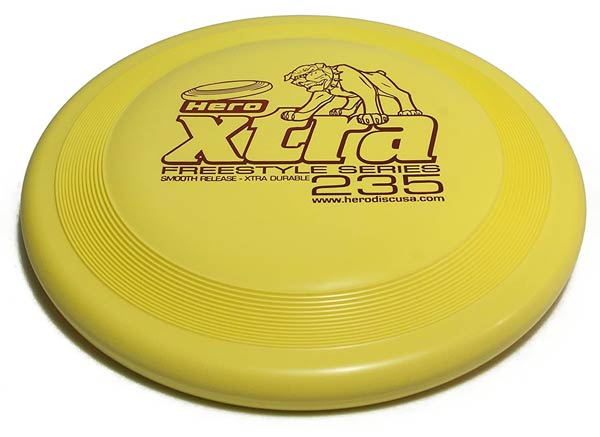 HeroDiscUSA XTRA 235 Dog Frisbee The Best Dog Frisbees Border Collie Trail and Kale