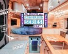 DIY Sprinter Van Conversion Part 7: Our Campervan's Hidden Toilet, Secret Door & Custom Overhead Cabinets