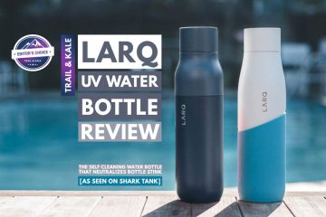 LARQ Bottle review Trail and Kale