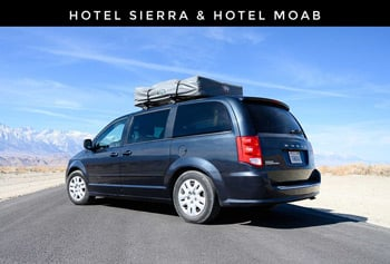 Lost Campers hotel sierra moab Camper Van Rental Companies Trail and Kale