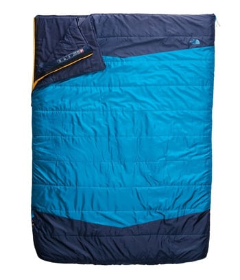 The North Face Dolomite One Double Sleeping Bag Best Two Person Sleeping Bags for Couples Camping Trail and Kale