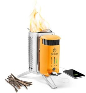 Biolite CampStove 2 backpacking stove unique gift ideas for people who love camping