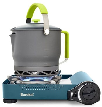 What To Bring on a Camping trip - Eureka SPRK Butane Camp Stove Camping Essentials Trail and Kale