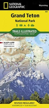 Grand Teton Map Camping Essentials Trail and Kale