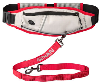 Nathan K9 Series Runners Waistpack With Leash Best Dog Running Leashes Trail and Kale
