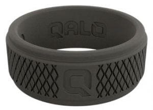 QALO Rings mens black silicone ring gifts for outdoorsy people