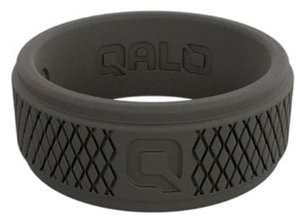 QALO Rings mens black silicone ring Best Silicone Wedding Bands Trail and Kale
