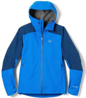 REI Xerodry GTX Jacket Camping Essentials Trail and Kale