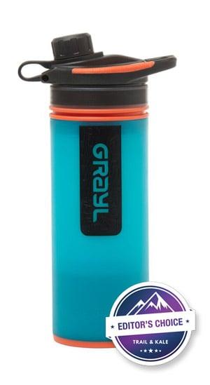 Best backpacking water filter Grayl Geopress Water Purifier Bottle 2 trail kale