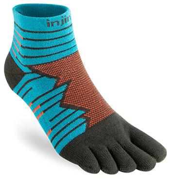 Injinji Ultra Run Mini Crew Socks best running socks for men and women trail and kale