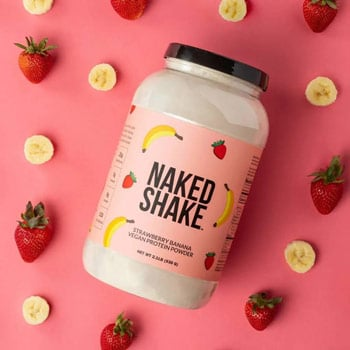 NKD Nutrition Strawberry Banana Protein Powder Best Fathers Day gifts for active dads trail and kale