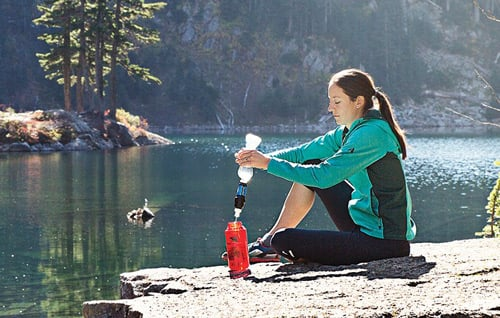 sawyer water filter squeeze filter Trail kale