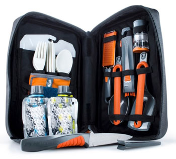 GSI Outdoors Destination Kitchen Utensil Set Best Camping Kitchen Cookware Trail and Kale