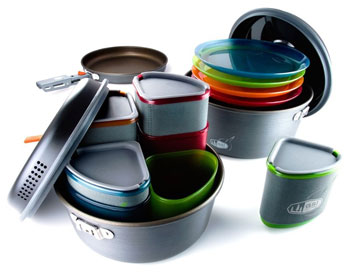 GSI Outdoors Pinnacle Camper Cookset Outdoor camping kitchen buyers guide Trail and Kale