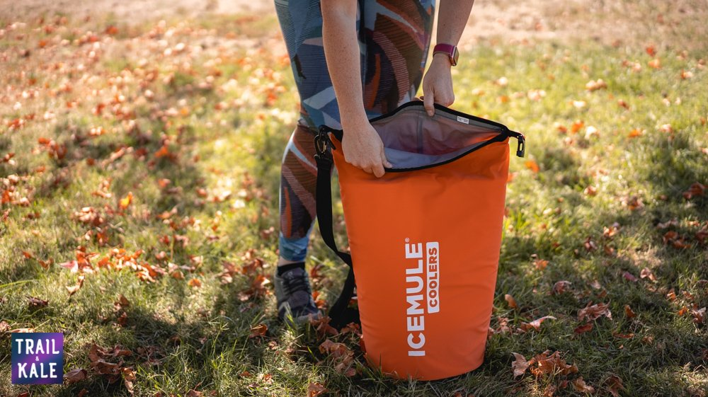 The IceMule Cooler in this review is the medium size, and opens easily by unclipping and unrolling the top   IceMule Cooler Review