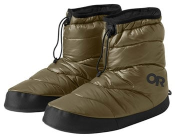 OR Tundra Aerogel Booties Best Down Booties for Camping