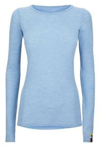 Kora Outdoor Blue Womens Neema Crew Baselayer Camping Gift Ideas for Outdoorsy women and men Trail and Kale