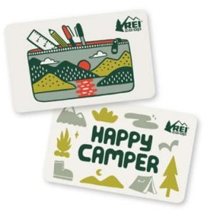 REI gift card Best gifts for people who love camping hiking